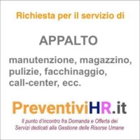 APPALTO - OUTSOURCING